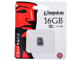 Карта памяти MicroSD 16 GB Kingston Class 10