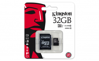 Карта памяти MicroSD 32 GB Kingston Class 10